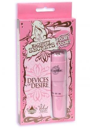 Naughty Secrets Devices Of Desire Pocket Rocket Waterproof 4 Inch Pink