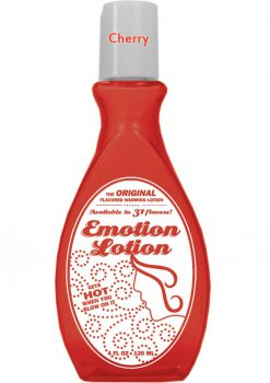 Emotion Lotion Flavored Warming Lotion Cherry 4 Ounce