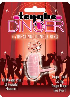 Tongue Dinger Vibrating Tongue Ring Magenta