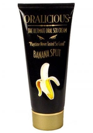 Oralicious Ultimate Oral Sex Cream 2 Ounce Banana Split
