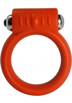 Vibrating Silicone Cock Ring 2 Inch Red
