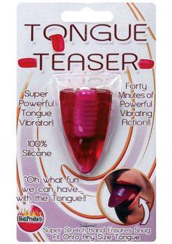 Tongue Teaser Silicone Oral Vibrator Magenta