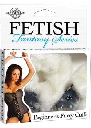 Fetish Fantasy Beginners Furry Cuffs White