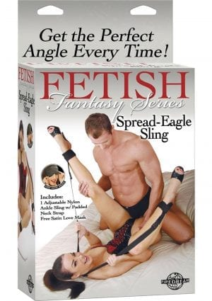 Fetish Fantasy Spread Eagle Sling Black