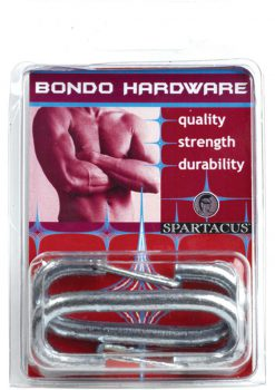 Bondo Hardware Nickel Snap Clips 2 Per Packs Silver