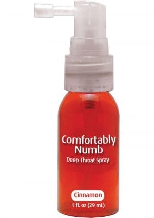 Comfortably Numb Deep Throat Spray Cinnamon 1 Ounce