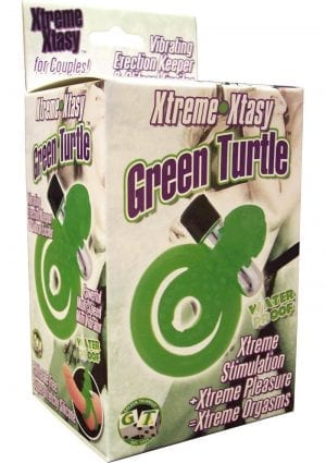 XTREME XTASY GREEN TURTLE VIBRATING COCK RING WATERPROOF