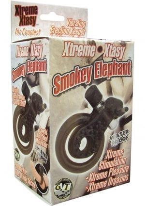 XTREME XTASY BLACK ELEPHANT VIBRATING COCK RING WATERPROOF