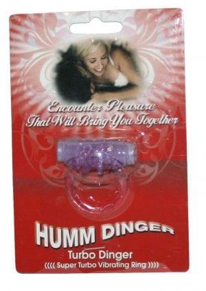 Humm Dinger Super Turbo Vibrating Cock Ring Purple