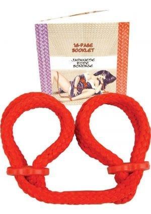 Japanese Silk Love Rope Wrist Cuffs Red