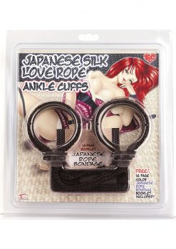Japanese Silk Love Rope Ankle Cuffs Black