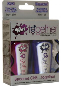 Wet Together Become One Together Couples Tingling And Warming Lubricant Two 2 Ounce Bottles