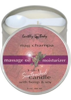 Nag Champa Massage Oil Candle with Hemp and Soy