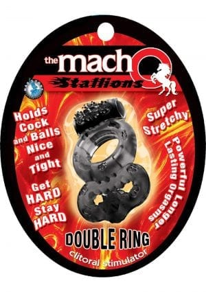 Macho Stallions Double Ring Black