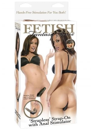 Fetish Fantasy Strapless Strap On With Anal Stimulator 5 Inch Black