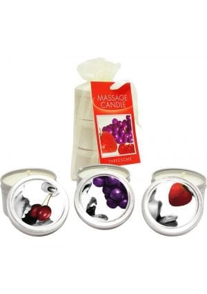 Edible Candle Threesome Round Massage Oil Candles 3 Per Bag