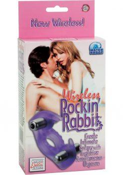 Wireless Rocking Rabbit With Removable 3 Speed Bullets Waterproof Purple