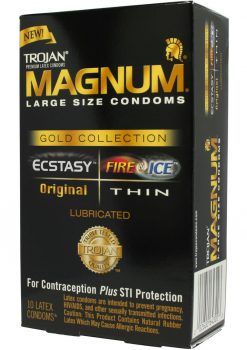 Trojan Madgum Gold Collection Large - 10 pack