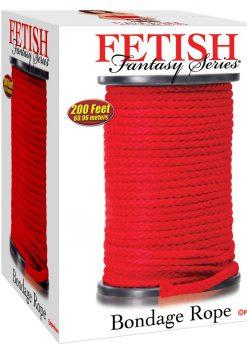 Fetish Fantasy Bondage Rope Red 200 feet