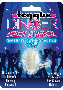 Tongue Dinger Night Stroker Vibrating Silicone Tongue Ring Glow In The Dark