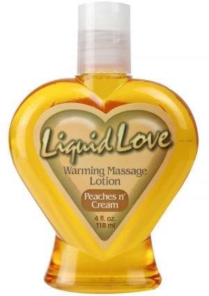 Liquid Love Warming Massage Lotion Peaches N Cream 4 Ounce