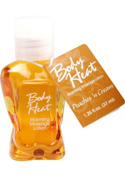 Body Heat Edible Warming Massage Lotion Peaches N Cream 1.25 Ounce