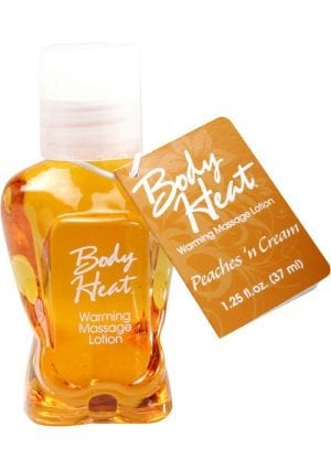 Body Heat Edible Warming Massage Lotion Peaches N Cream 1.25 Ounce
