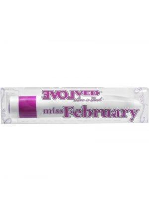 Birthstones Miss February Vibrator Waterproof 4 Inch Amethyst
