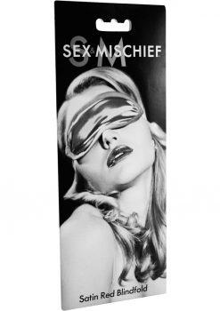 Sex Mischief Satin Blindfold - Red