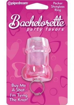 Bachelorette Party Pecker Shot Glass Ring