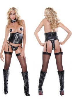 Fetish Fantasy Lingerie Rock Out Corset Small