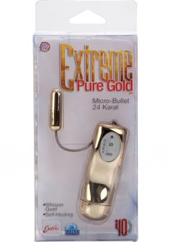 Extreme Pure Gold Micro Bullet Waterproof 1.5 Inch 24 Karat