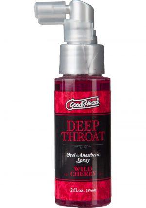 Goodhead Deep Throat Oral Anesthetic Spray Wild Cherry 2 Ounce