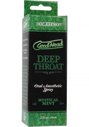 Goodhead Deep Throat Oral Anesthetic Spray Mystical Mint 2 Ounce