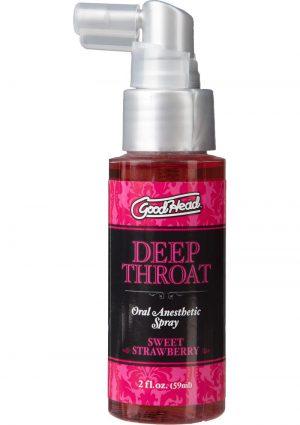 Goodhead Deep Throat Oral Anesthetic Spray Sweet Strawberry 2 Ounce