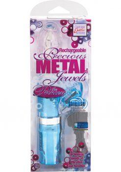 Rechargeable Precious metal Jewels The Princess Vibrator Blue