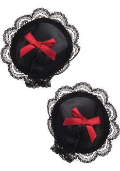 Tantric Binding Love Satin Pasties Black