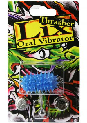 Lix Thrasher Oral Vibrator Glow In The Dark Blue