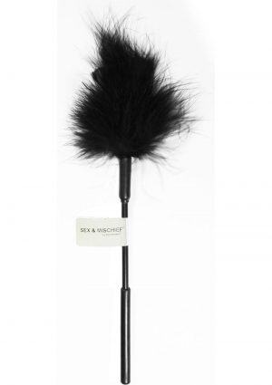 Sex And Mischief Feather Tickler Black