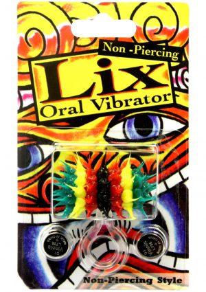 Lix Non Piercing Oral Vibrator Rasta Multicolor
