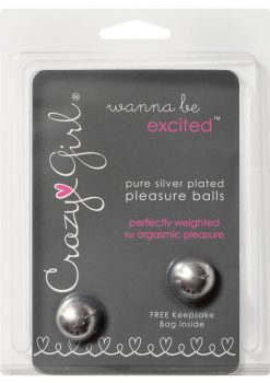 Crazy Girl Wanna Be Excited Pure Silver Plated Pleasure Balls