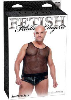 Fetish Fantasy Male Lingerie See Thru Sexy 2XL 3XL