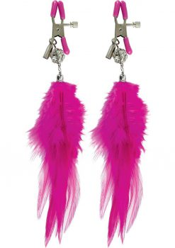 Fetish Fantasy Fancy Feather Nipple Clamps - Pink