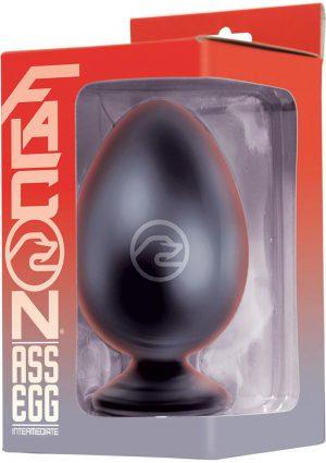 Falcon Ass Egg Intermediate Butt Plug Black 4.5 Inch