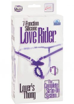 7 Function Silicone Love Rider Thong Purple