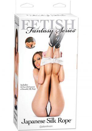 Fetish Fantasy Japanese Silk Rope White