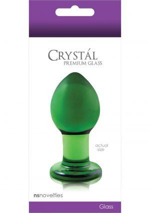 Crystal Glass Plug Medium Green