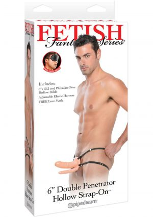 Fetish Fantasy Double Penetrator Hollow Strap On Flesh 6 Inches