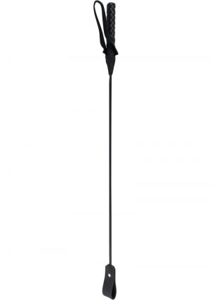 Fetish Fantasy Extreme Leather Riding Crop Black