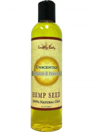 Massage And Body Oil With Hemp Seed Unscented 8 Ounce